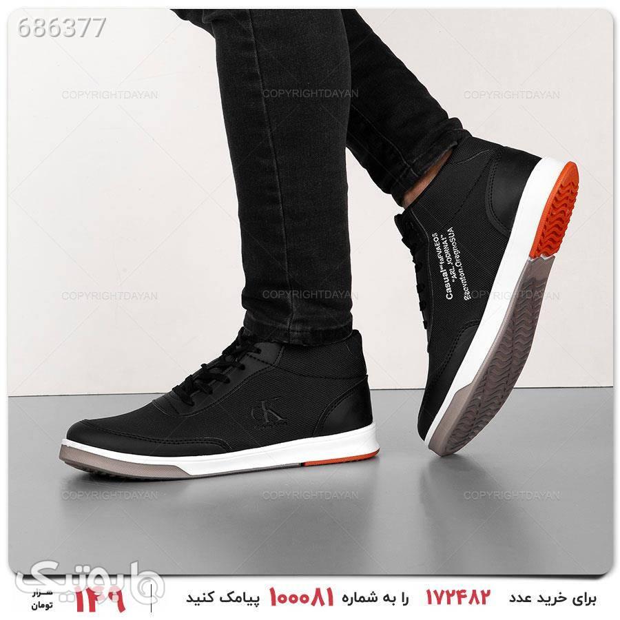 کفش ساقدار مردانه Calvin Klein مدل 17261 مشکی كفش مردانه