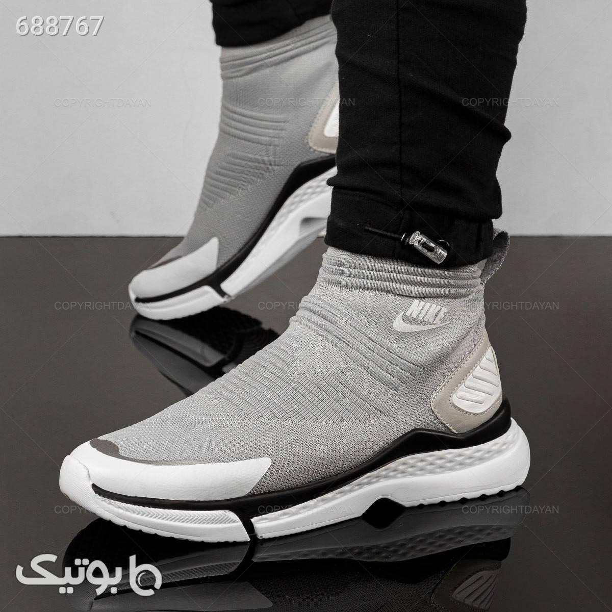کفش ساقدار مردانه Nike مدل 17115 نقره ای كفش مردانه