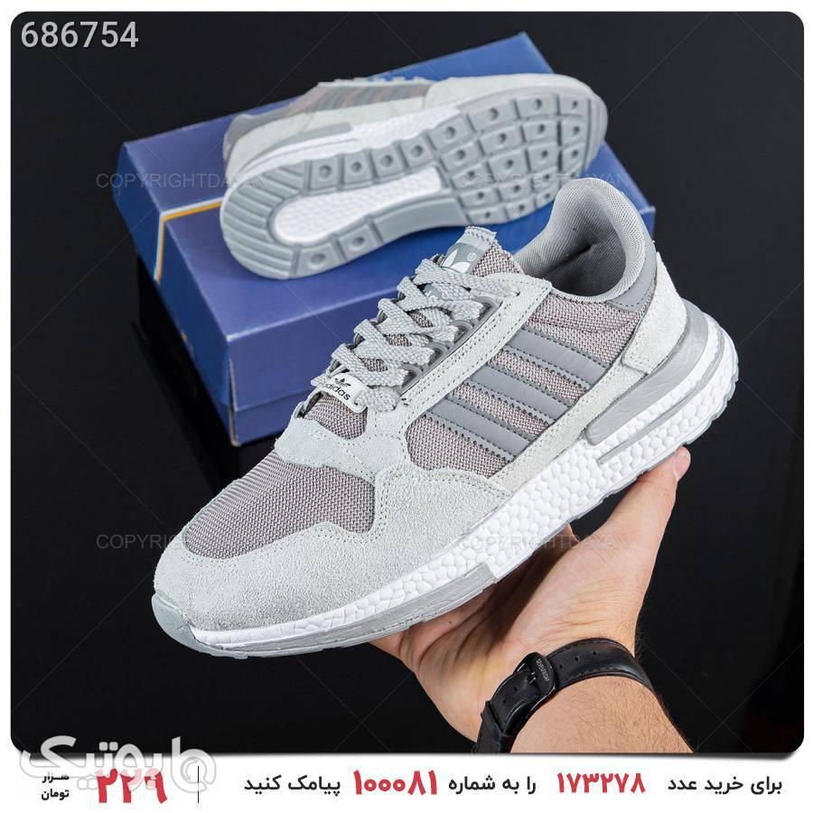 کفش مردانه Adidas مدل 17230 نقره ای كفش مردانه