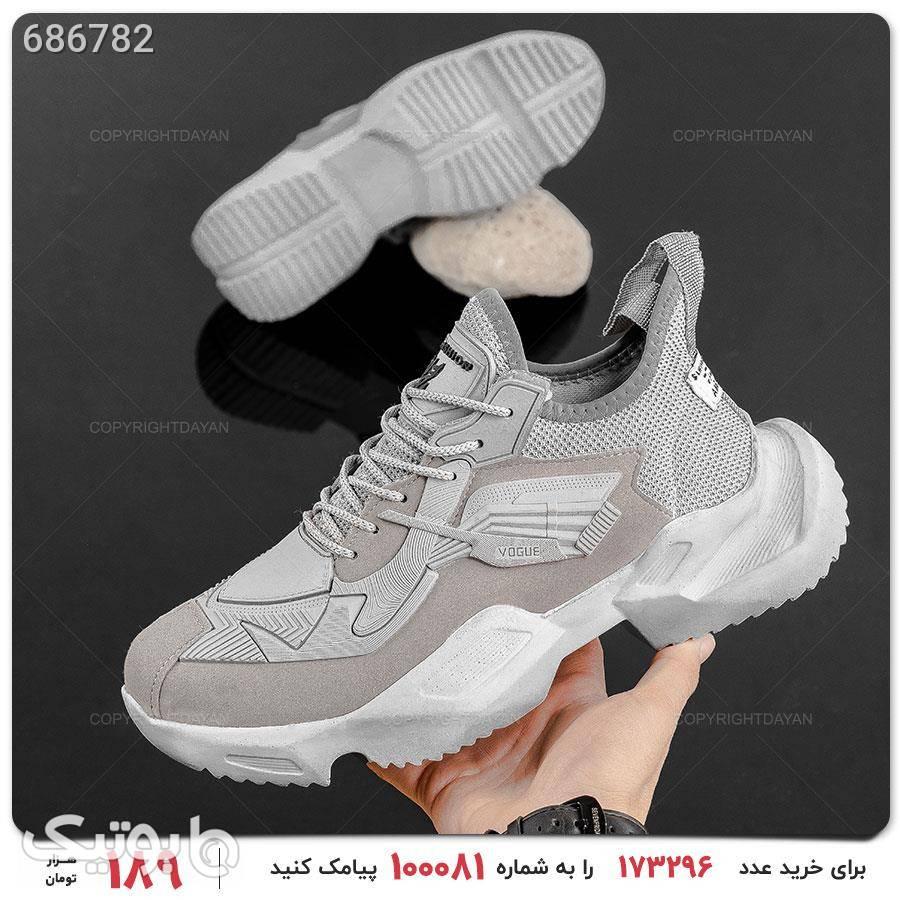 کفش مردانه Araz مدل 16814 نقره ای كتانی مردانه