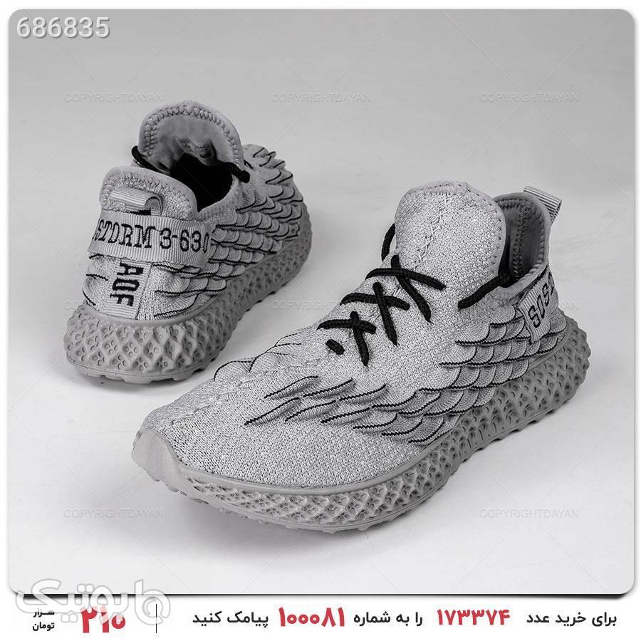 کفش مردانه Enzo مدل 16425 نقره ای كتانی مردانه