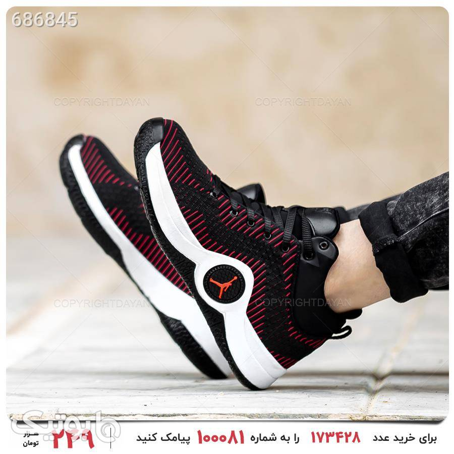 کفش مردانه Jordan مدل 17831 قرمز كتانی مردانه