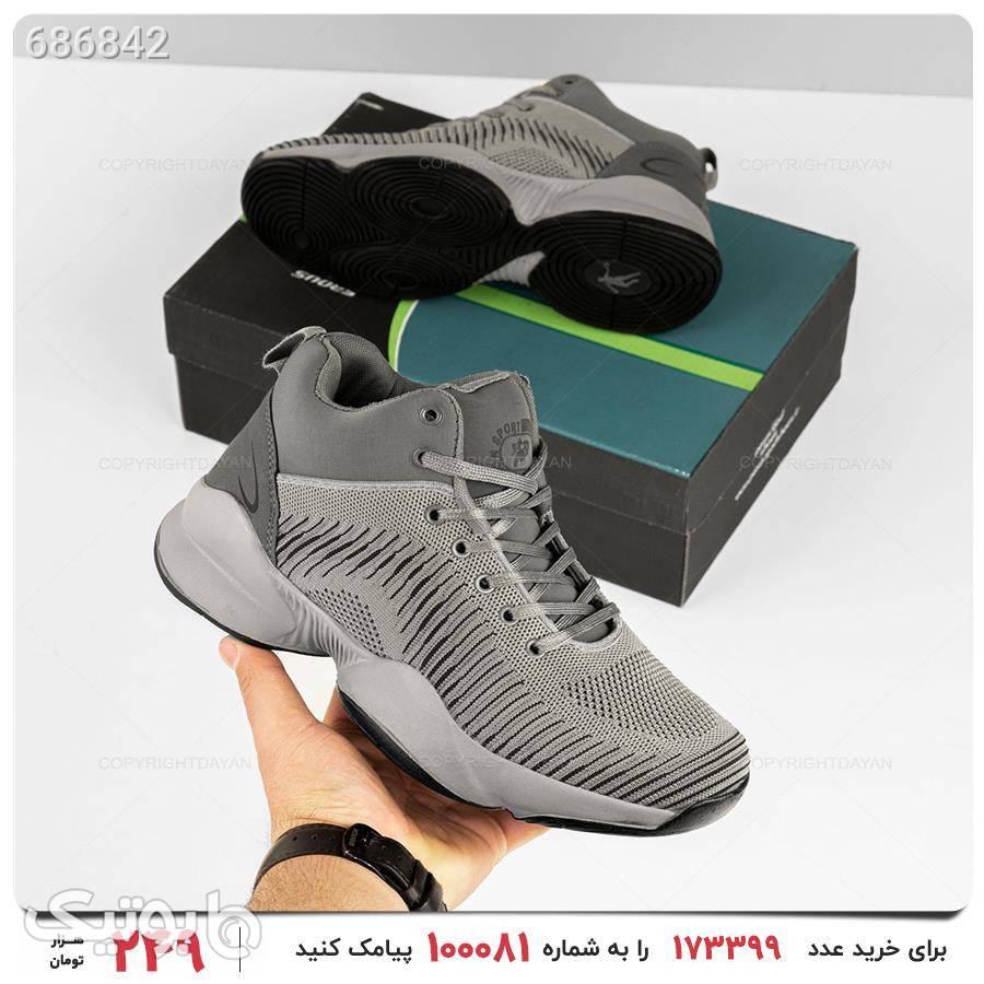 کفش مردانه Jordan مدل 18012 طوسی كتانی مردانه