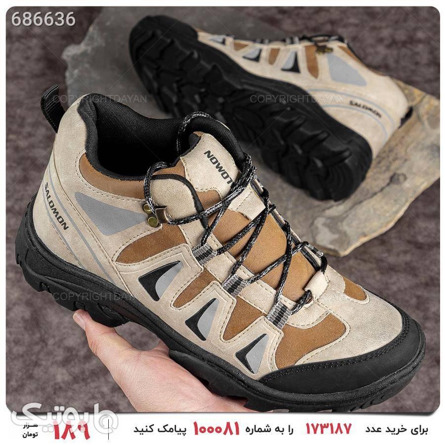 کفش مردانه Salomon مدل 17351 کرم كتانی مردانه