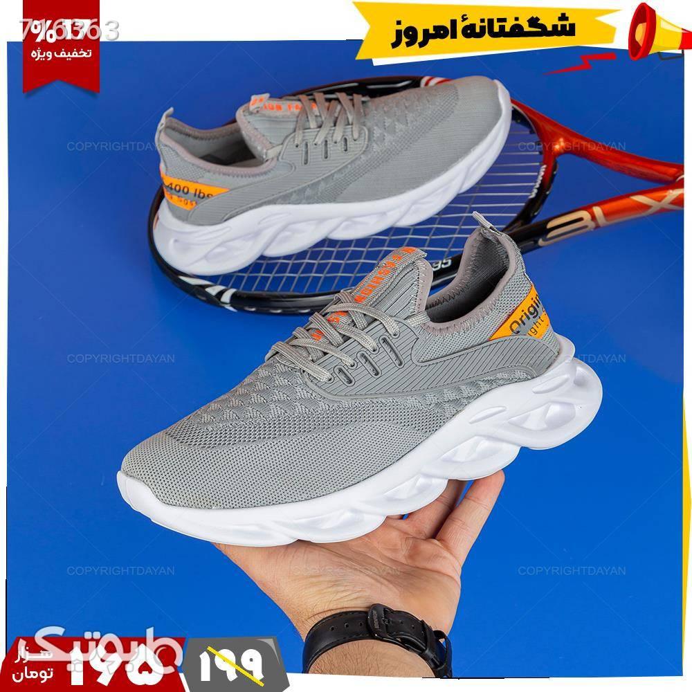 کفش ورزشی مردانه Fashion  نقره ای كفش مردانه