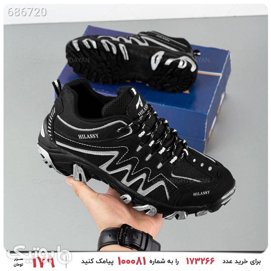 کفش ورزشی مردانه Hilassy مدل 17403 مشکی كتانی مردانه