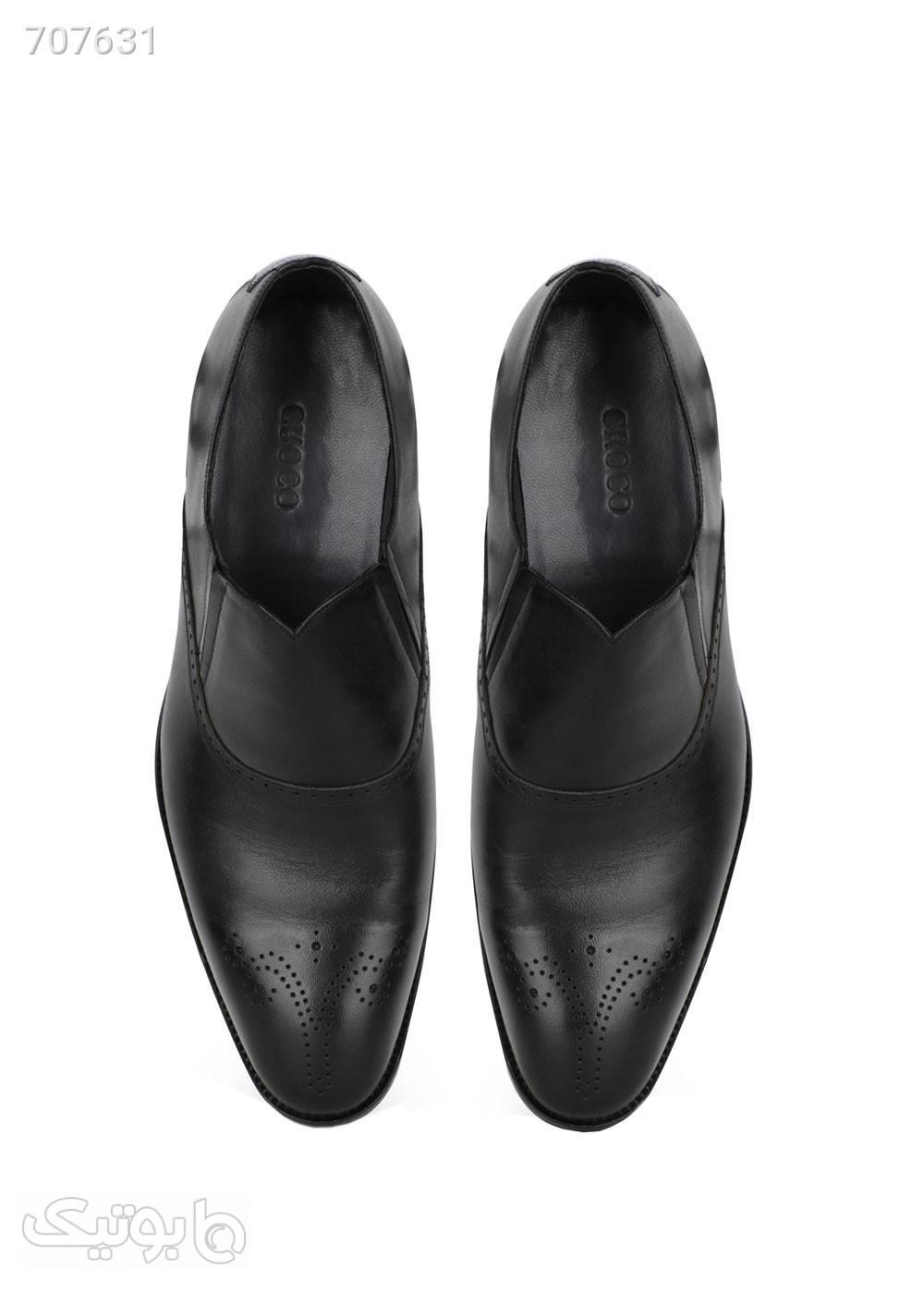کفش کلاسیک مردانه تخته چرم مشکی كفش مردانه