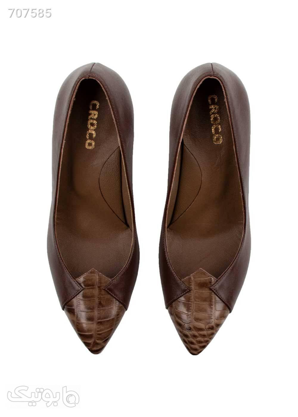 کفش زنانه مجلسی مدل ۷۹۰ قهوه ای كفش پاشنه بلند زنانه