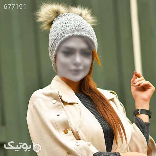كلاه دخترانه خرگوشي مدل Boshra کلاه بافت و شال گردن و دستکش