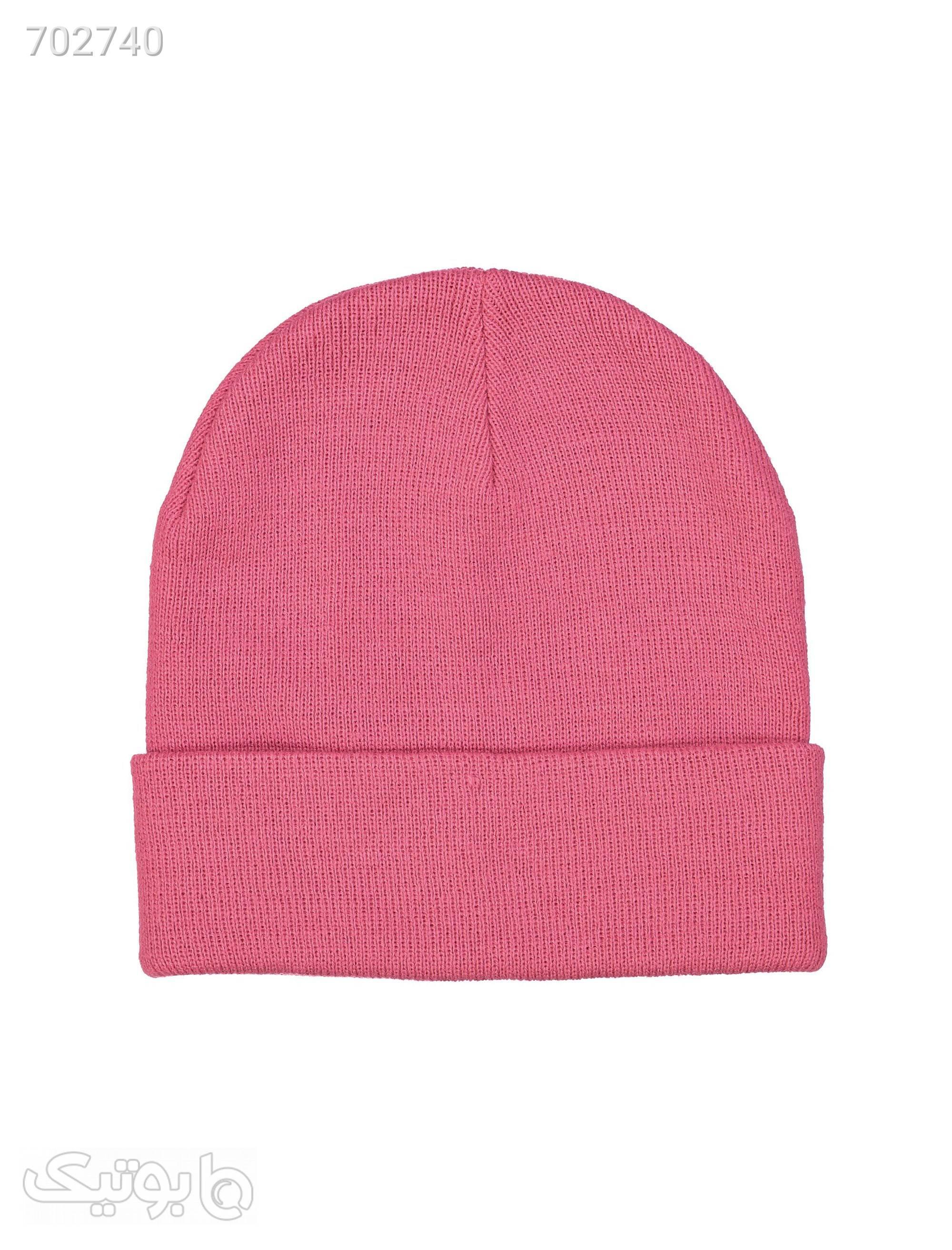 کلاه بافتنی زنانهورو مدا صورتی کلاه و اسکارف