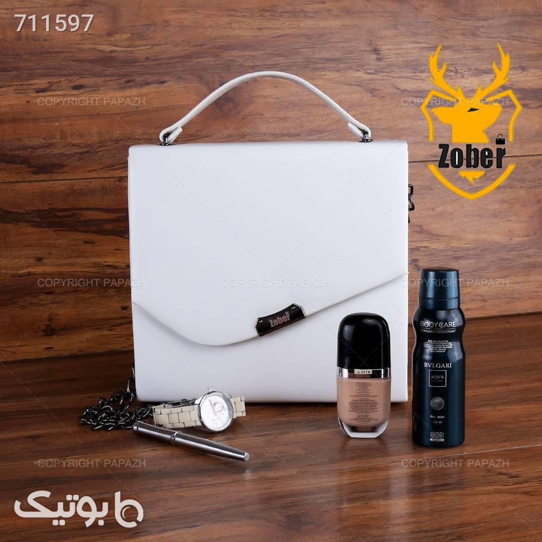کیف زنانه ZOBER مدل 7432 سفید كيف زنانه