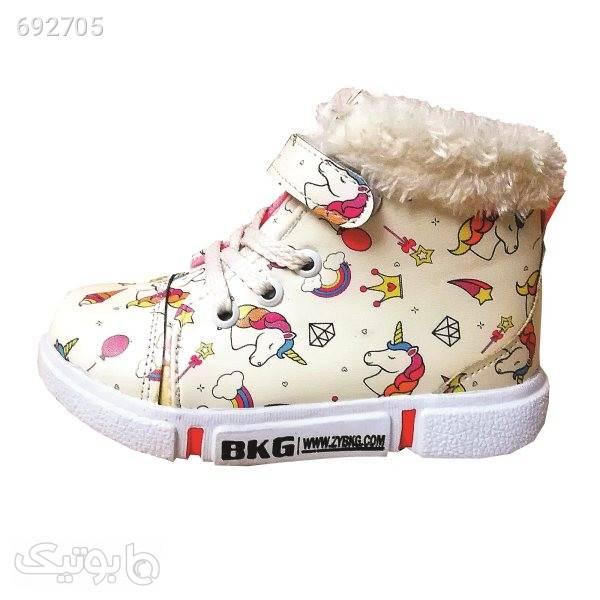 نیم بوت دخترانه مدل K509 کرم کیف و کفش بچگانه