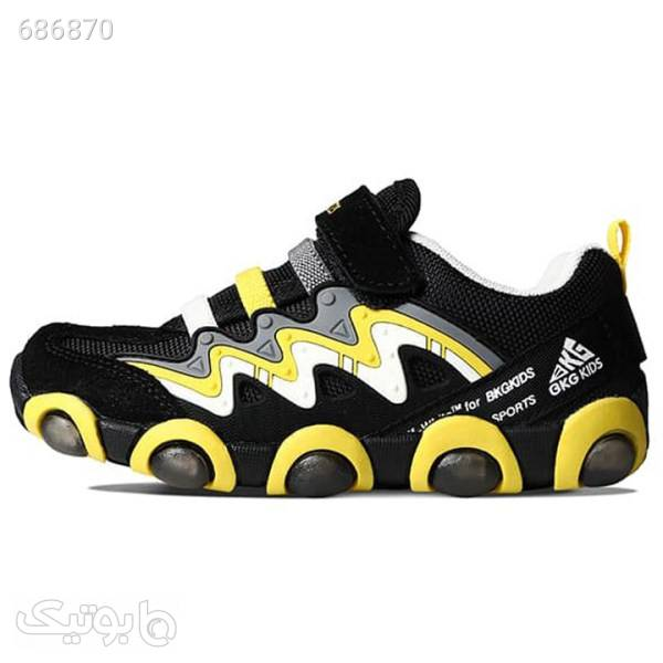 کفش راحتی چراغدار بچگانه مدل BKG1520 مشکی کیف و کفش بچگانه