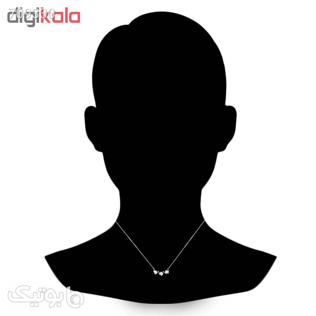 گردنبند نقره زنانه اقلیمه کد GN331 نقره ای گردنبند