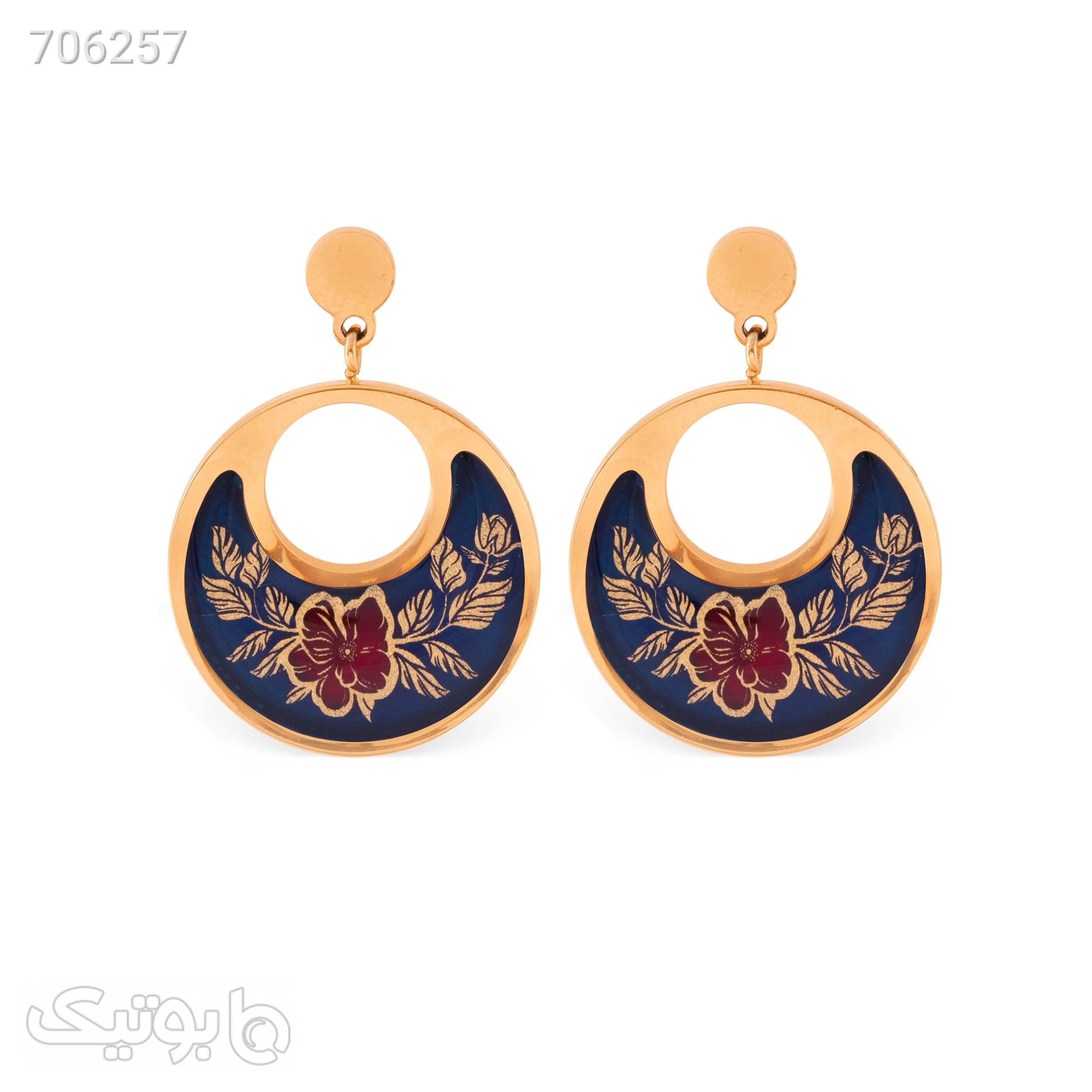 گوشواره زنانه زرسام مدل گلبرگ کد 10007451 طلایی گوشواره