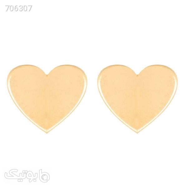 گوشواره زنانه طرح قلب کد E0001 طلایی گوشواره