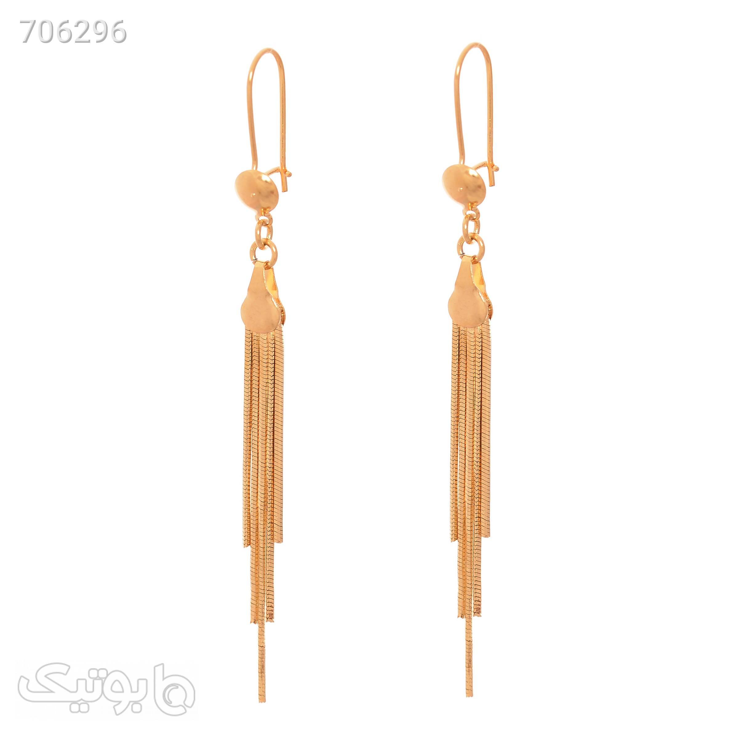 گوشواره زنانه کد GO1482 طلایی گوشواره