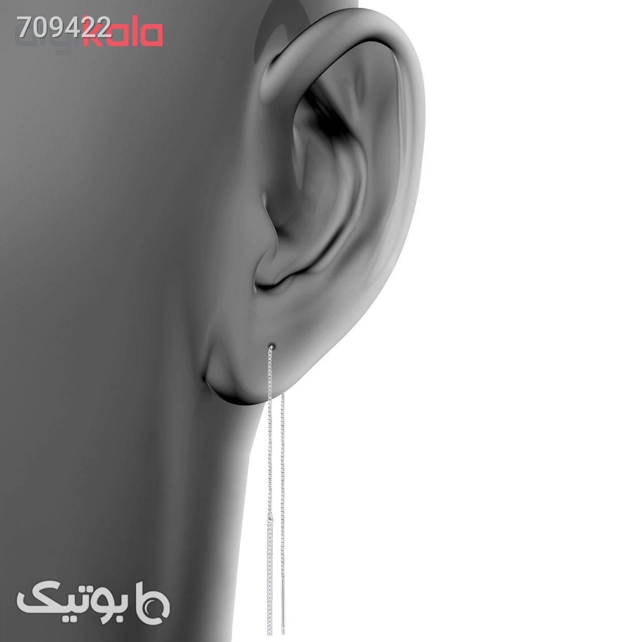گوشواره نقره زنانه اقلیمه کد EN398 نقره ای گوشواره
