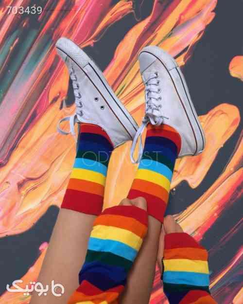 جوراب ساقدار زنانه و دخترانه رنگین کمون آبی 99 2021