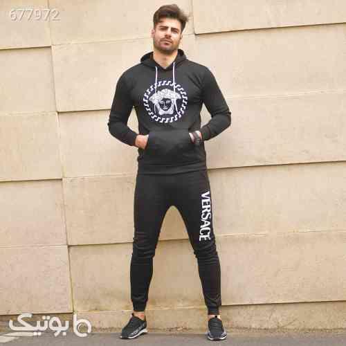 ست سوئيشرت شلوار ورساچه مردانه مدل Elyas مشکی 99 2021