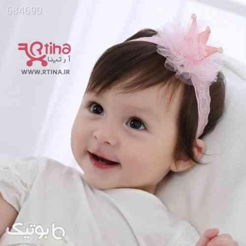 هدبند دخترانه نوزادی مدل تاج crown صورتی 99 2021