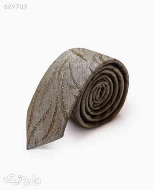 کراوات طرح دار مردانه کد 9530LightBrown طوسی 99 2021