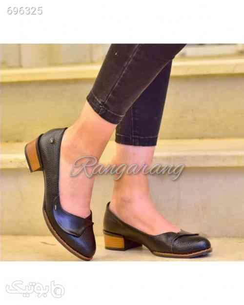 کفش زنانه بسیارشیک پاشنه چوبی پرفروش مشکی 99 2021
