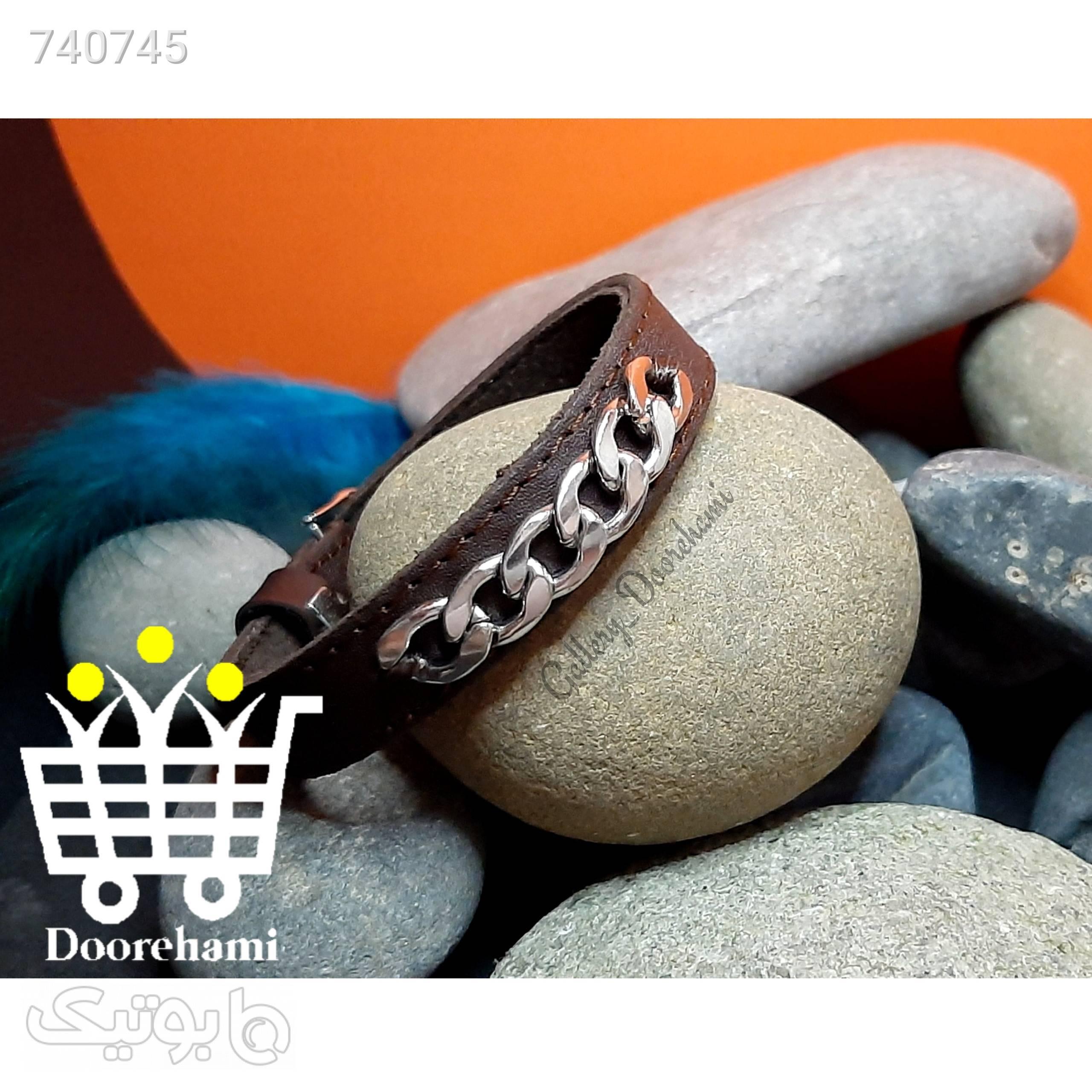 دستبند چرم کارتیر قهوه ای دستبند و پابند