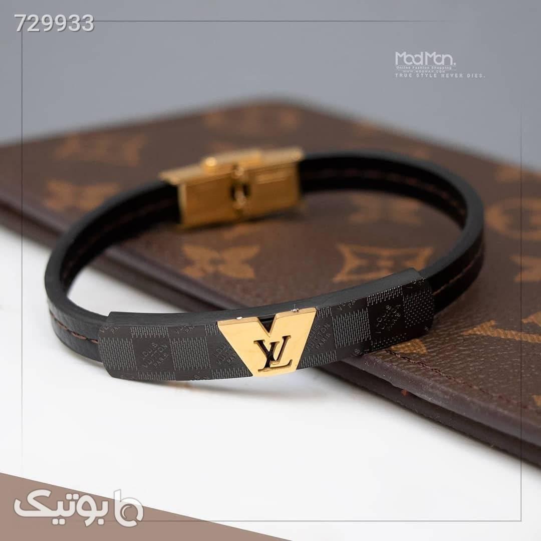 دستبند چرم مشکی دستبند و پابند