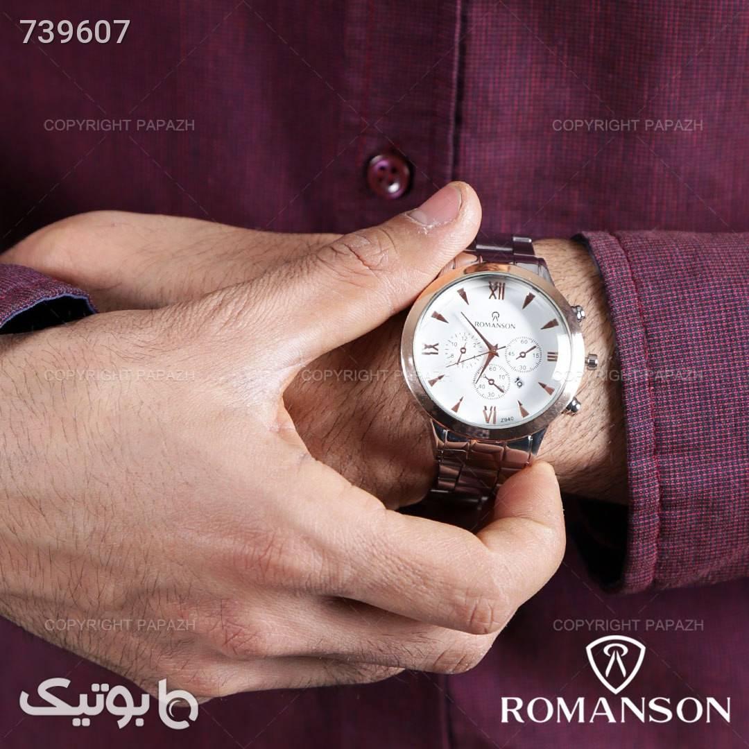 ساعت مچی مردانه ROMANSON مدل 1305 نقره ای ساعت