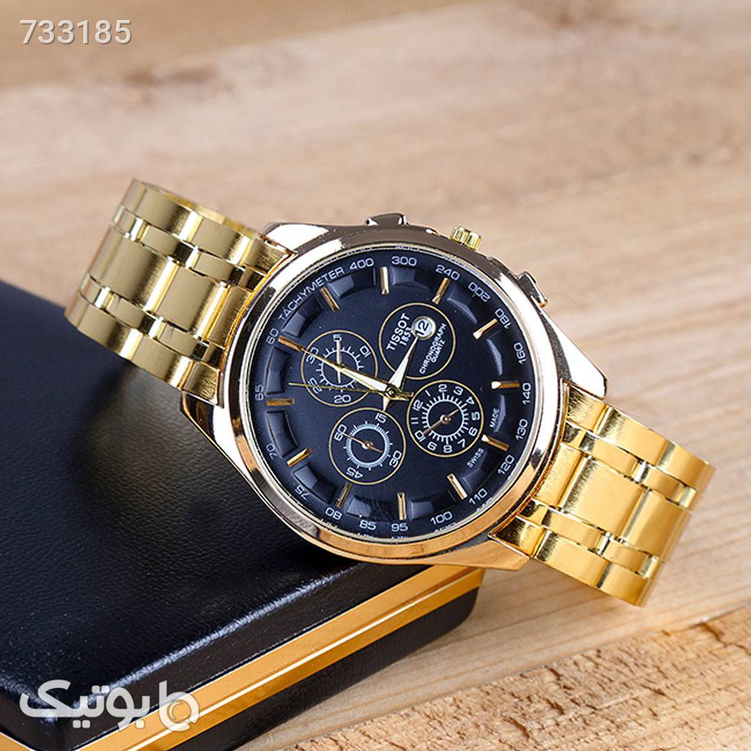 ساعت مچی مردانه TISSOT زرد ساعت