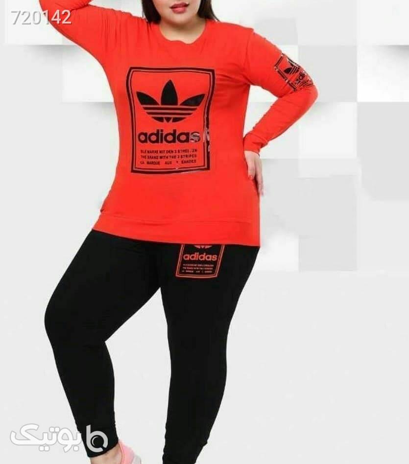 بلوز شلوار قواره دار adidas صورتی سایز بزرگ زنانه