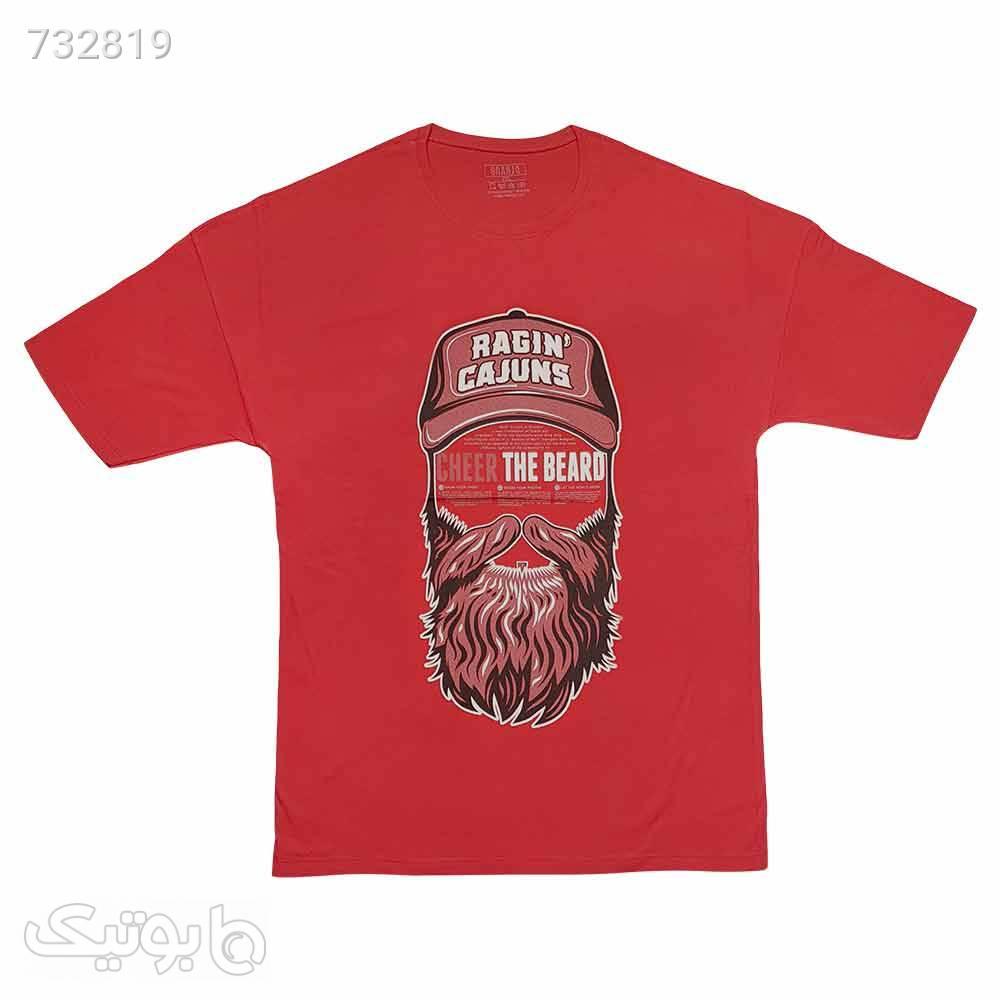 تیشرت سایز بزرگ پنبه ای قرمز 1221104 قرمز سایز بزرگ مردانه