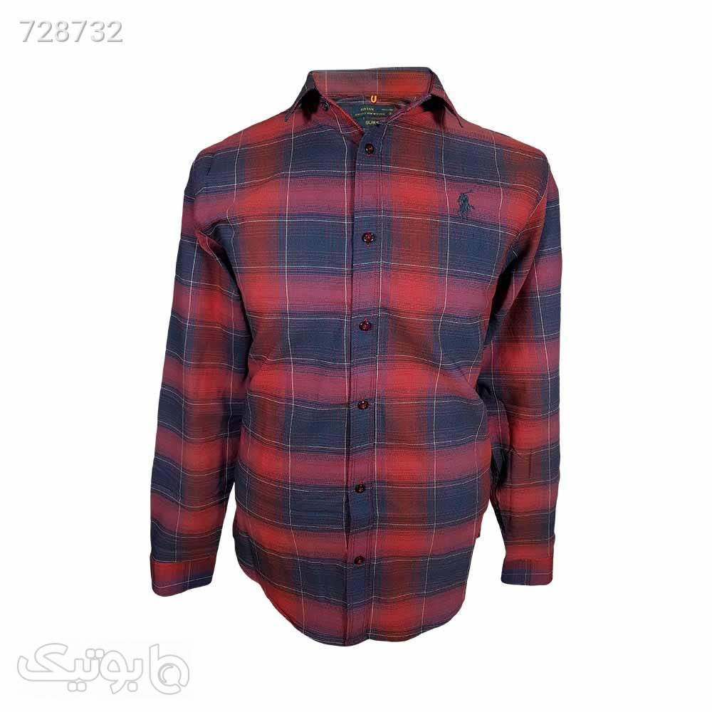 پیراهن نخی سایز بزرگ 124148120 قرمز سایز بزرگ مردانه