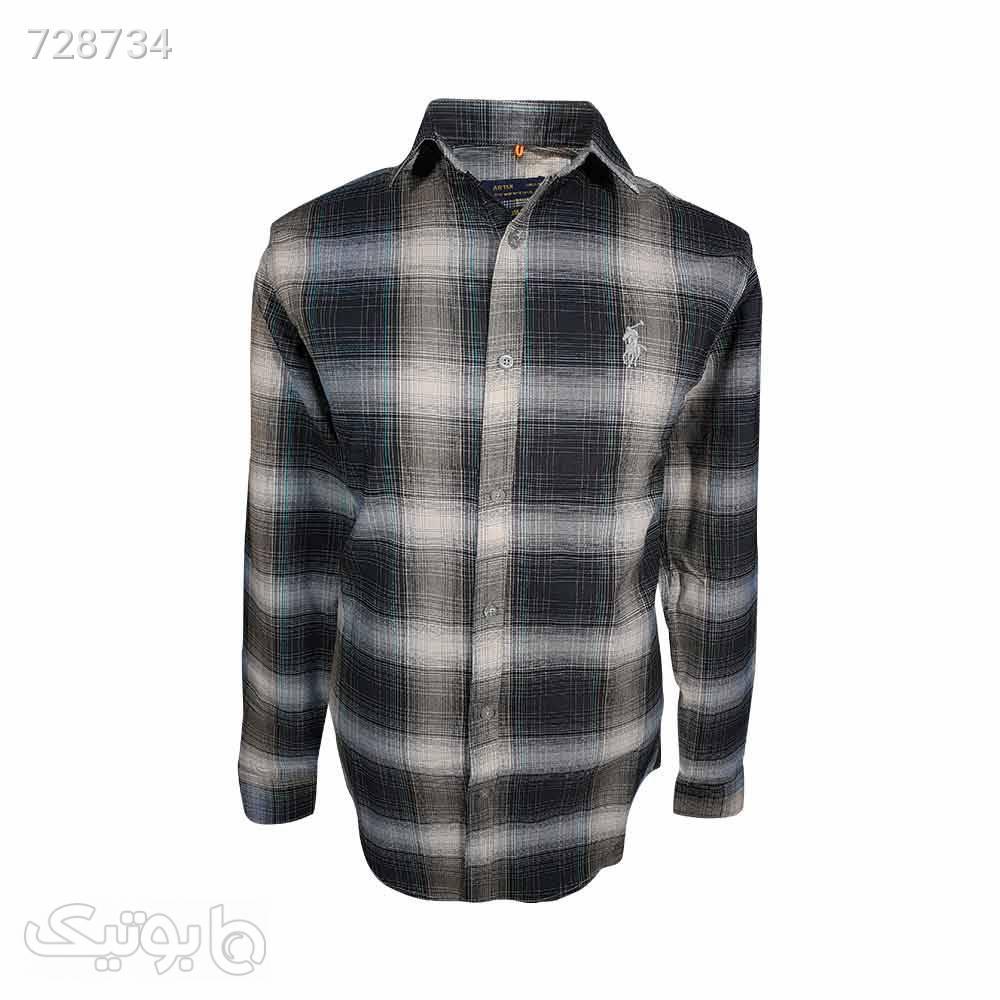 پیراهن نخی سایز بزرگ 124148124 مشکی سایز بزرگ مردانه