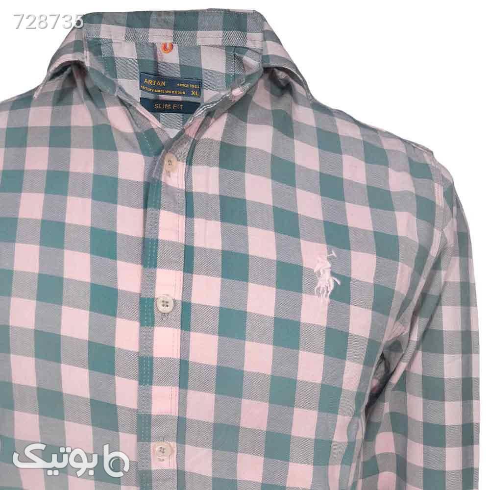 پیراهن نخی سایز بزرگ 124148126 طوسی سایز بزرگ مردانه