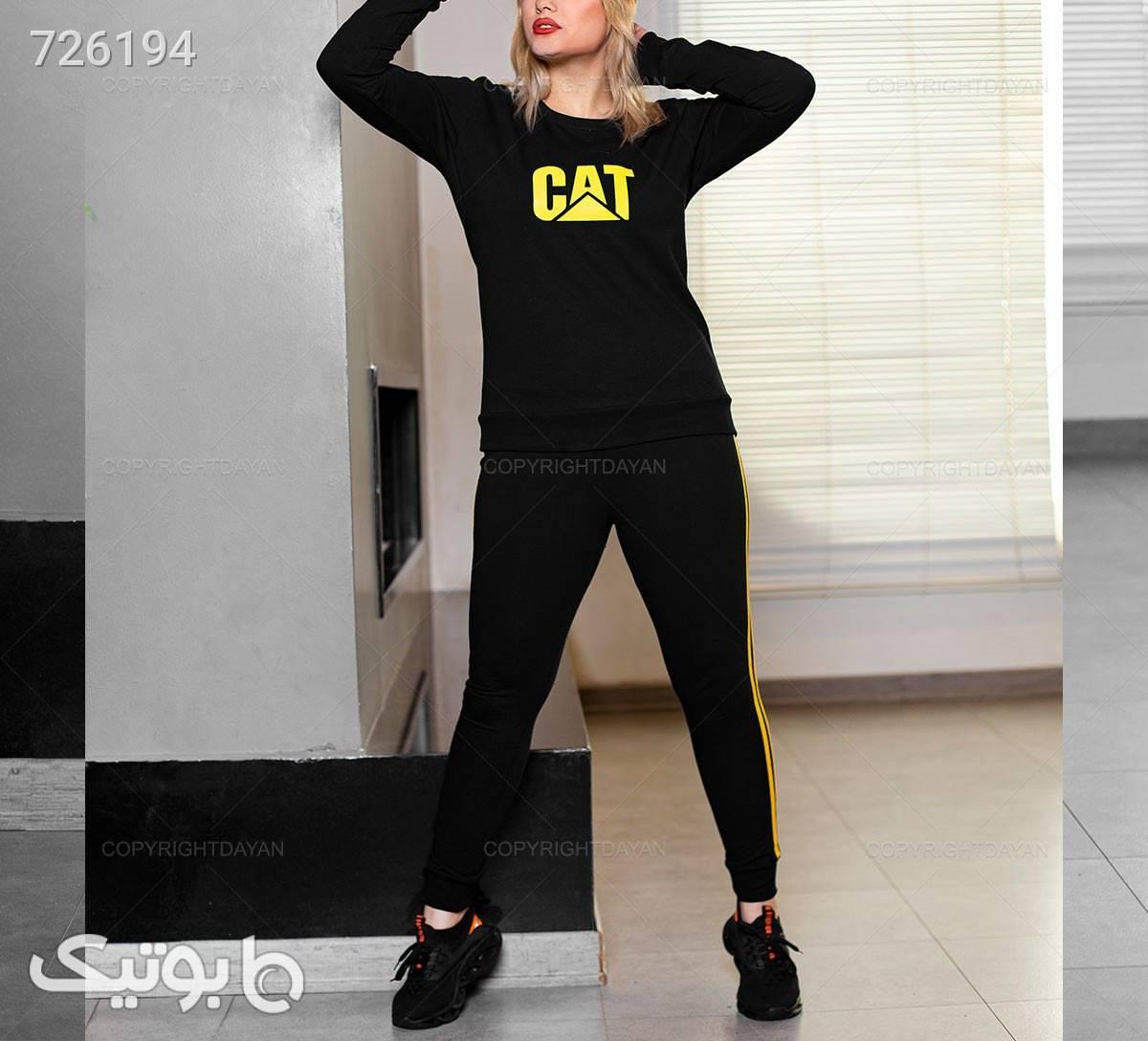 ست بلوز و شلوار زنانه Cat مشکی ست ورزشی زنانه