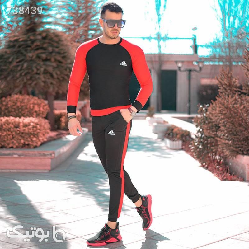 ست بلوز و شلوار adidas مدل Pease(قرمز) مشکی ست ورزشی مردانه