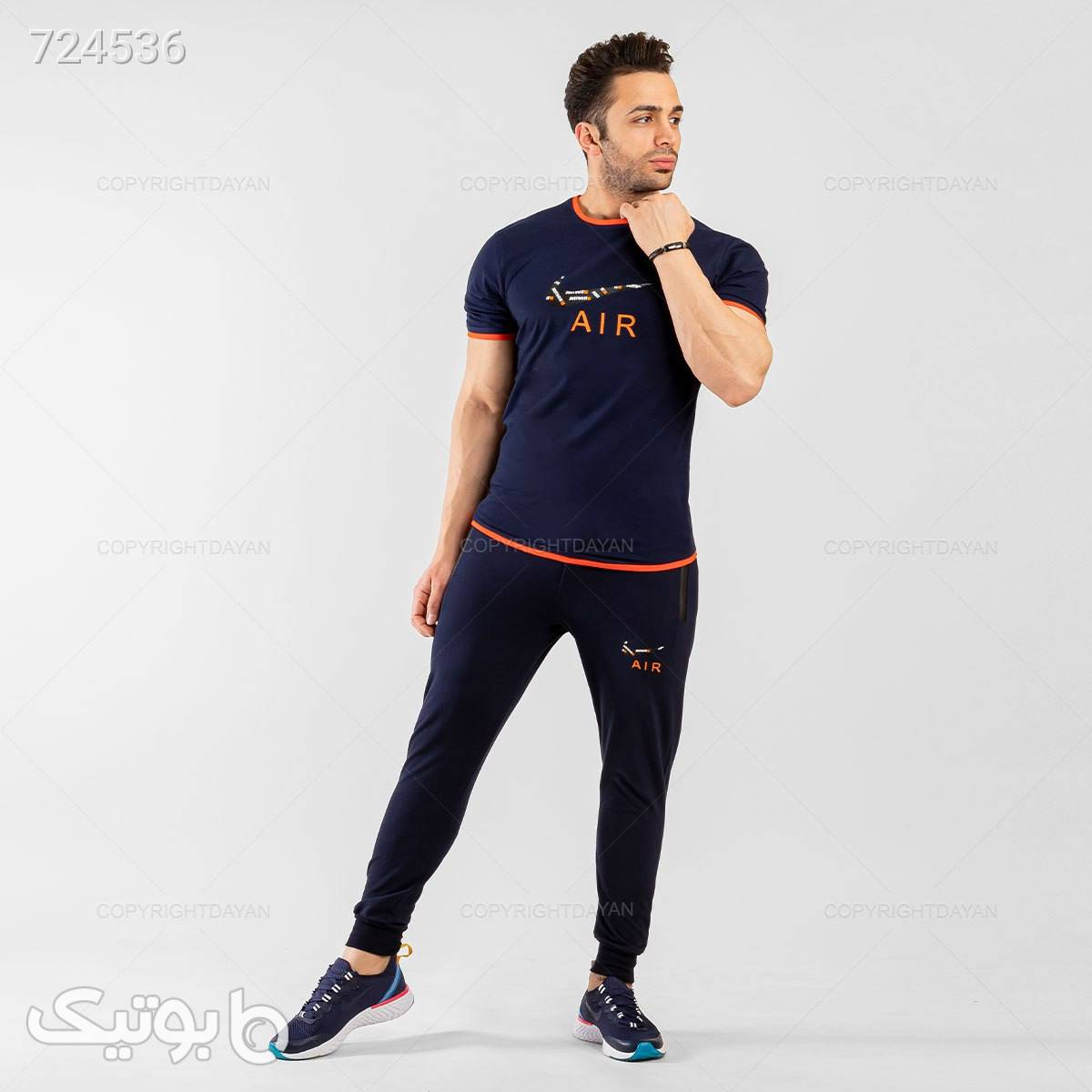 ست تیشرت و شلوار مردانه Nike  مشکی ست ورزشی مردانه