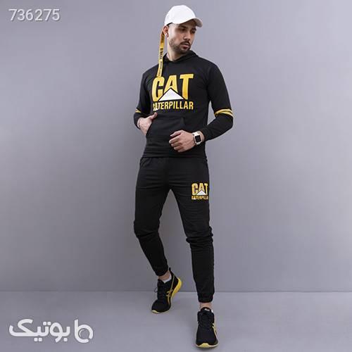 ست سوئيشرت شلوار مردانه CAT مدل Herbert مشکی ست ورزشی مردانه