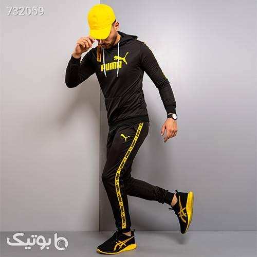 ست سوئيشرت شلوار پوما مردانه مدل Karson مشکی ست ورزشی مردانه