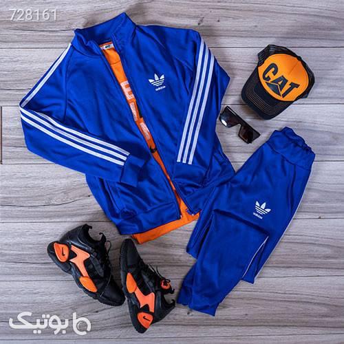ست سوئيشرت شلوار Adidas مردانه مدلMadox آبی ست ورزشی مردانه