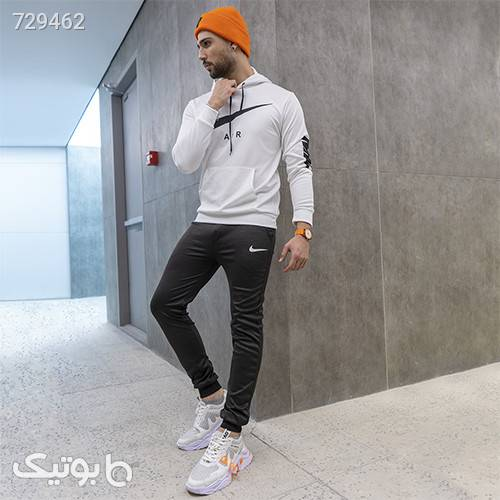 ست سوئيشرت شلوار Nike مردانه مدل Wilson سفید ست ورزشی مردانه