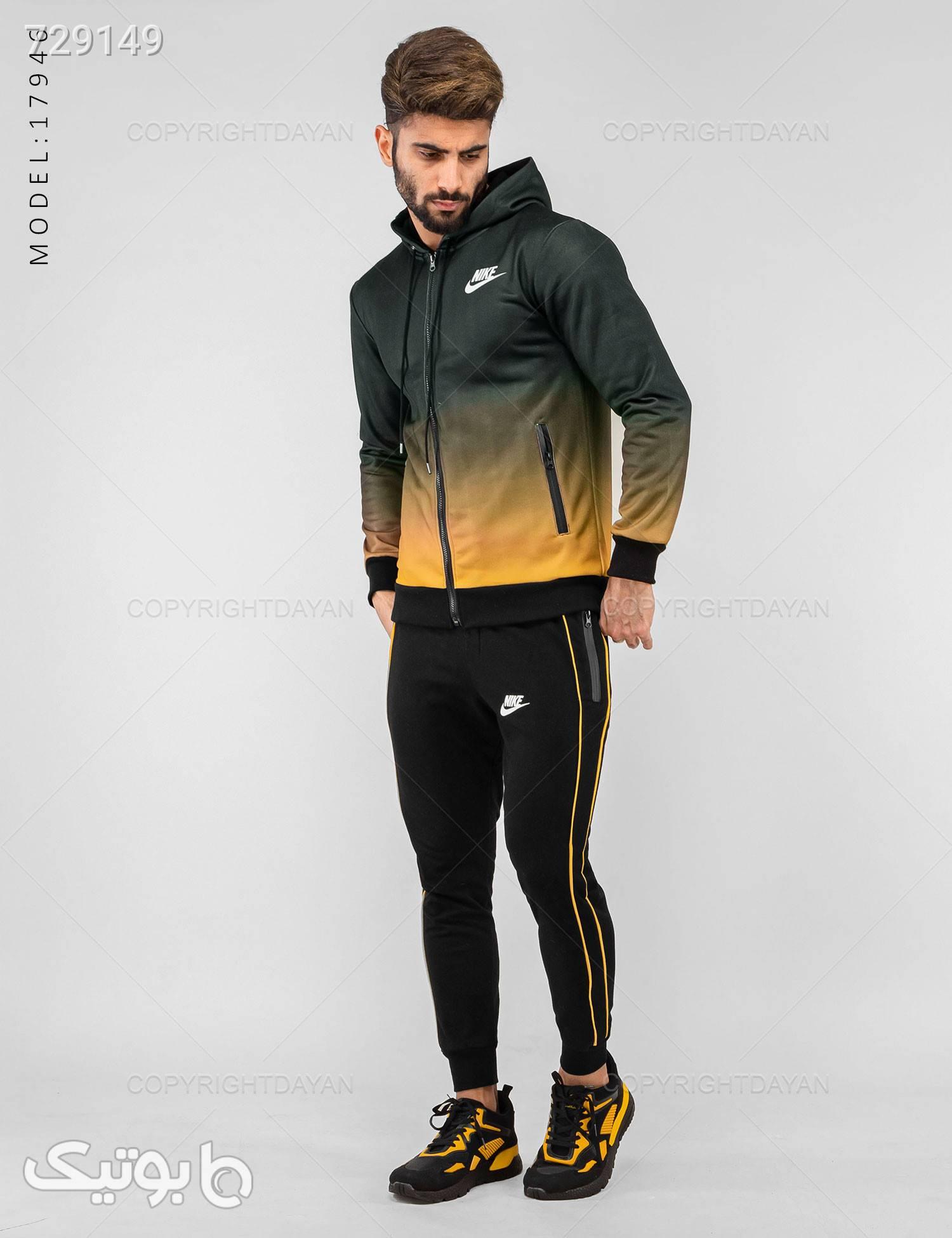 ست سویشرت و شلوار مردانه Nike مدل 17946 مشکی ست ورزشی مردانه