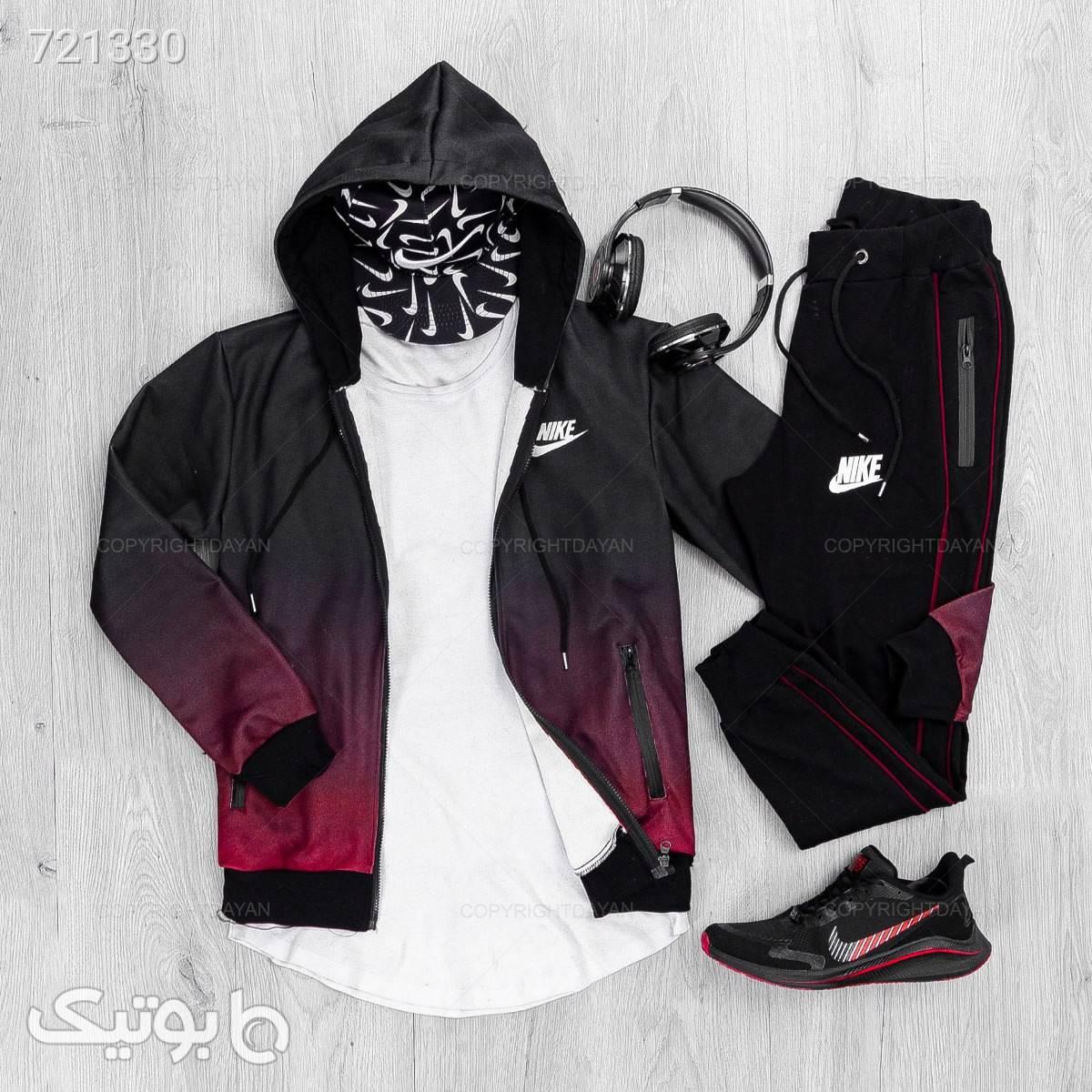 ست سویشرت و شلوار مردانه Nike مشکی ست ورزشی مردانه