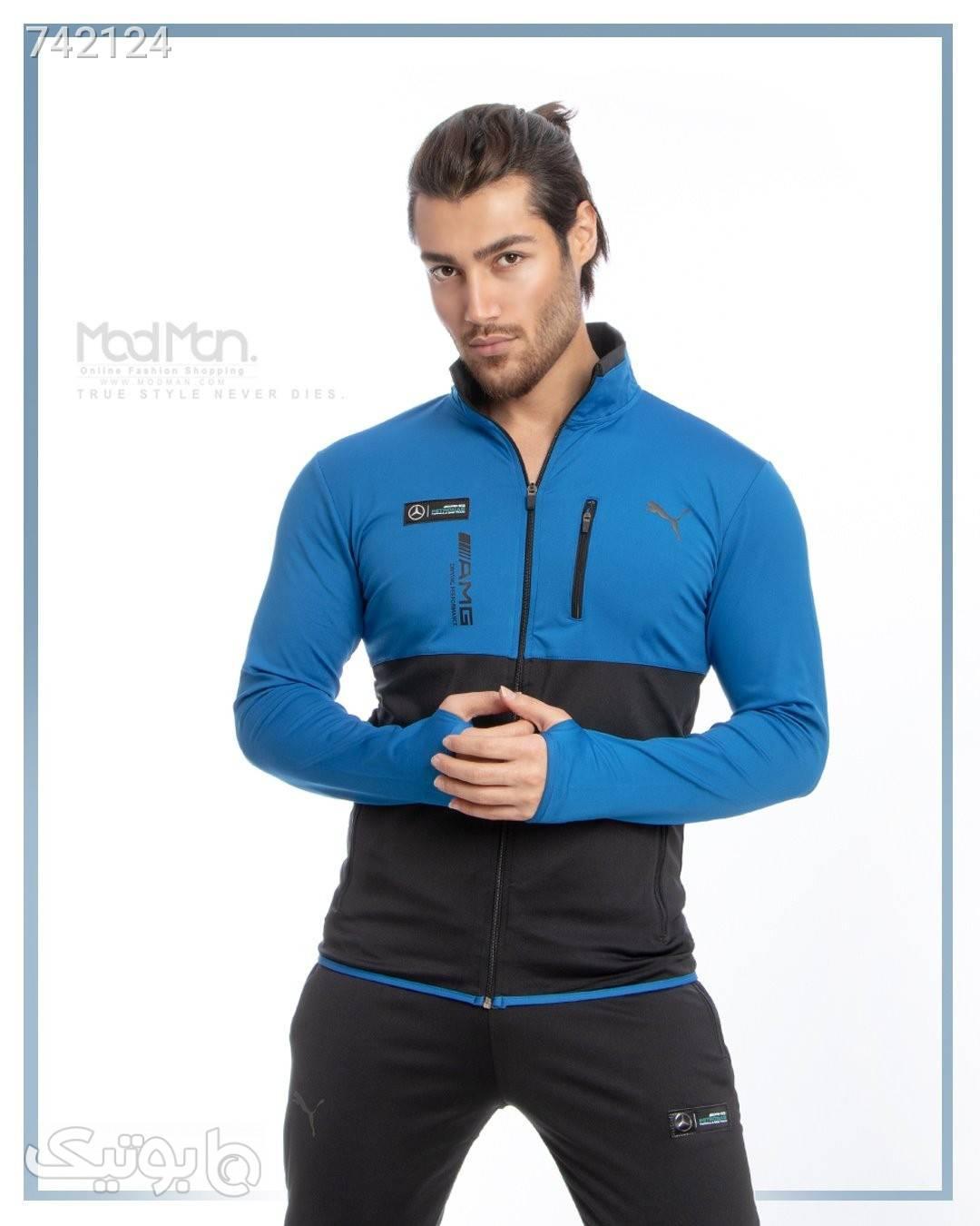ست سویشرت و شلوار  آبی ست ورزشی مردانه