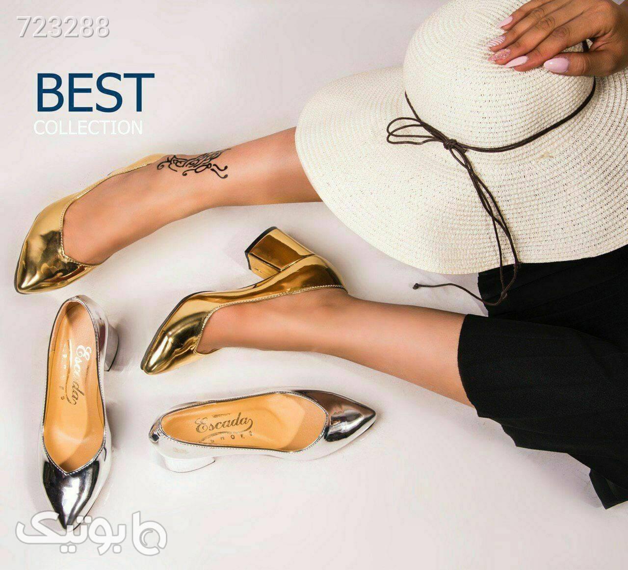 ست کیف و کفش  زرد ست کیف و کفش زنانه
