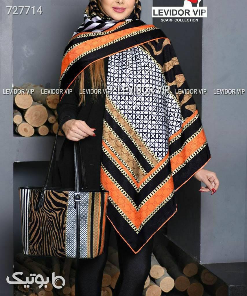 ست کیف و روسری نارنجی شال و روسری