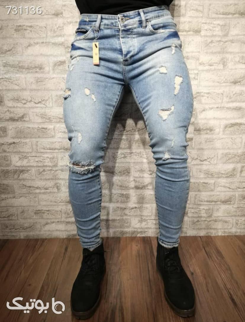شلوار جین آبی شلوار جین مردانه
