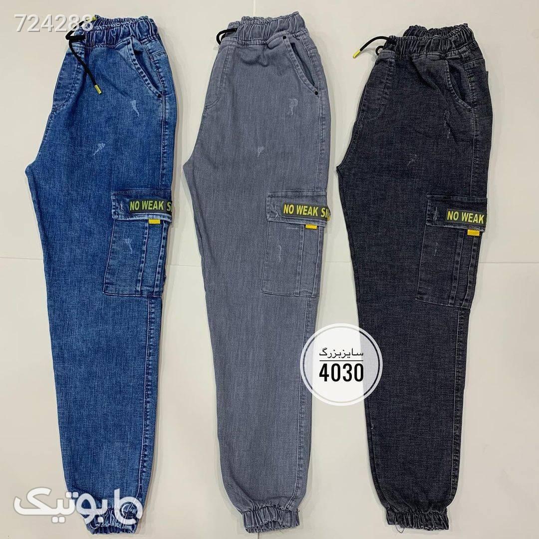 شلوار اسلش جین سایز بزرگکد 265  آبی سایز بزرگ مردانه